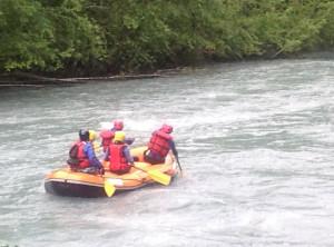 Raft sur le Giffre