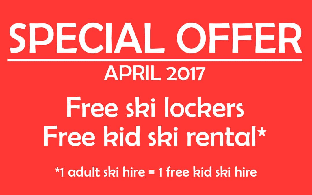 special offer on ski hire in samoens april 2017